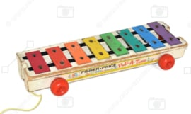 "Vintage Fisher Price ""Pull-a-tune"" xylophone 1964"