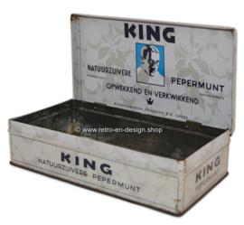 Rechthoekige blikken trommel voor pepermunt van King