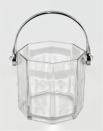 Vintage IJsemmer voor ijsklontjes van Arcoroc France, Octime Clear helder glas