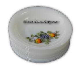 Arcopal, soepbord, Fruits de France Ø 21 cm.