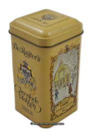 """Vintage tin 125 years """"De Ruijter"""" chocolate flakes, milk"""