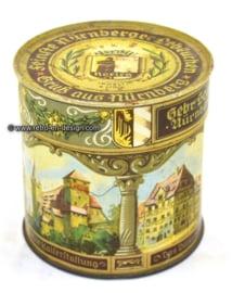 Vintage blik Nürnberger lebkuchen