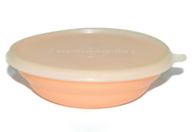 Vintage Tupperware pastel colored cereal bowl, orange/salmon