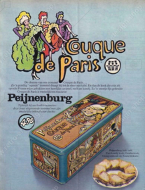 Vintage Peijnenburg cake or gingerbread tin for Couque de Paris with images of Paris