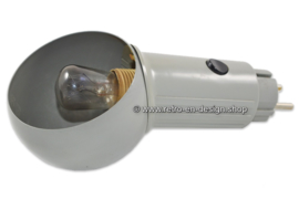 Retro-vintage stekkerlampje uit de jaren '80, grijs