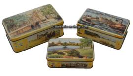 """Set of vintage tins , """"De Bruin, koek"""""""