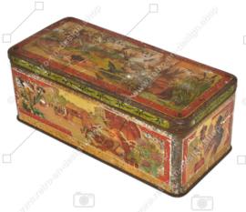 """Boîte rectangulaire allongée en vintage avec inscription """"Excentricos"""""""