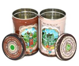 Juego de dos latas vintage para Zaanse Koeken de Albert Heijn