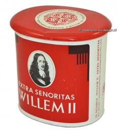 Vintage sigarenblik Willem II. Extra senoritas