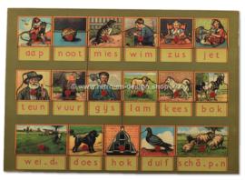 Aap, Noot, Mies. Simplex Playpuzzle houten speelplank