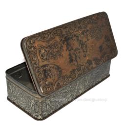 Rectangular vintage tin designed by Daher Long island N.Y.
