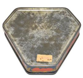 Lata de caramelo triangular vintage para los De Luxe Favoritos de Mackintosh