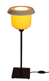 """""""Batter"""" Retro-Vintage Tupperware table lamp in yellow-white"""