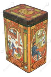Coffee tin by Douwe Egberts with nostalgic images