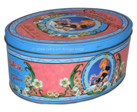 Oval vintage tin Colomba Battistero, Italië 1990