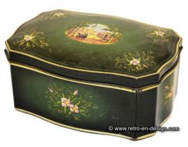 Vintage Douwe Egberts dark green tin.