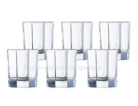 Vintage helder drinkglas van Arcoroc France, Luminarc Octime-Clear