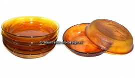 Assiette creuse Arcoroc Sierra, verre ocre