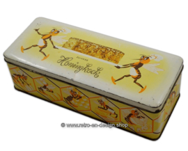 Vintage tin for gingerbread, Zuivere Honingkoek, Slingerkoek