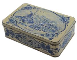 Boîte à biscuits Verkade à l'aspect bleu de Delft