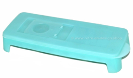 Vintage ice cube maker by Tupperware in transparent ice blue