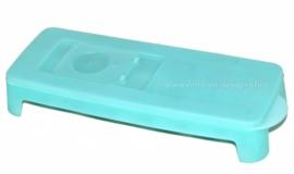 Machine à glaçons vintage de Tupperware en bleu glace transparente