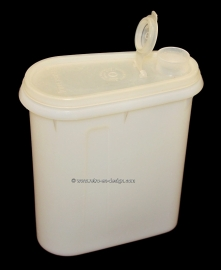 Vintage transparante Tupperware schenkkan of opslag container