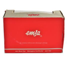 Vintage Emsa gelei set in houder, voor jam