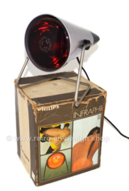 Vintage Infraphil HP3608 infrared heat lamp from Philips