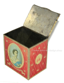 Vintage souvenir tin on the occasion of the coronation of Queen Elizabeth II in 1953
