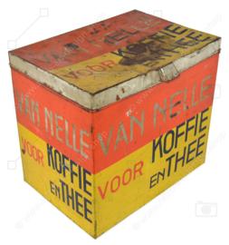 Grande boîte de comptoir pour café et thé de la marque Van Nelle, Rotterdam datant de 1930