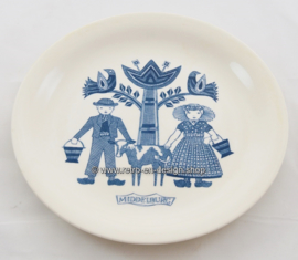 Vintage breakfast plate with an image of Middelburg and traditional costumes, Maastricht, 1961-1962