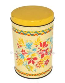Vintage beschuitbus met gestileerd bloemenpatroon