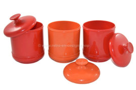 Vintage EMSA plastic storage canisters from the 70s