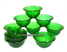 Arcoroc Sierra soup bowls, green