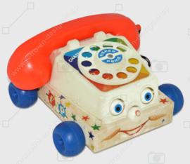 """Teléfono de juguete antiguo """"Chatter"""" de Fisher-Price de 1961"""