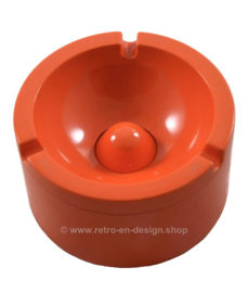 Orange melamine ashtray by Rösti Mepal