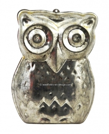 Brocant old baking mold 'Owl'