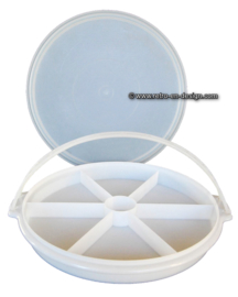 "Tupperware ""Susan"" party tray with handle and lid"