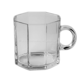 Glass coffee cup by Arcoroc France, Luminarc Octime Clear