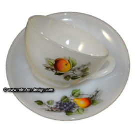 Tasse et sous-tasses, Arcopal Fruits de France