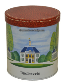 Vintage tin with picture castle Drakestein
