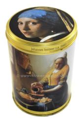 """Boîte étain """"La Laitière - La jeune fille à la perle"""" Johannes Vermeer"""
