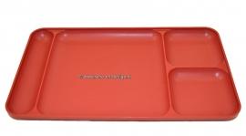 Vintage Tupperware divided serving tray, dark red