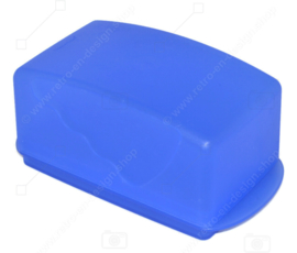 Vintage blue Tupperware Expressions butter dish