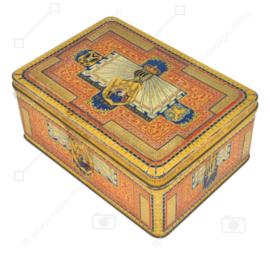 "Boîte à tabac vintage en étain de Tabaksfabriek "" ""Het wapen van Drenthe"" anno 1820 N.V. Franciscus Lieftinck, Groningen"