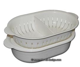 Tupperware ovale schaal, serveerschaal, serveerwonder, vergiet