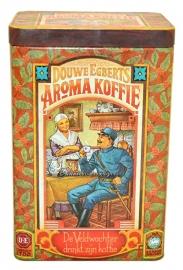 Vintage Douwe Egberts tin for aroma coffee