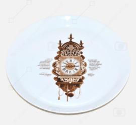 Kuchenteller, Gebäckteller/Schale aus dem Nutroma Clock Geschirr von Mitterteich Porzellan