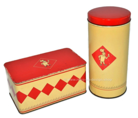 Vintage set of tins by Bolletje biscuit tin and rusk tin